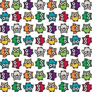 Doodle Owl - Rainbow