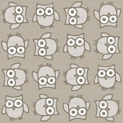Doodle Owl - Muted