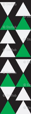 Green & White Triangles on Black