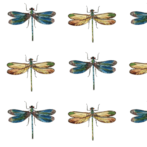 dragonflies fabric by mysticalarts on Spoonflower - custom fabric