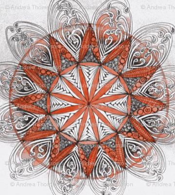 mandala in red