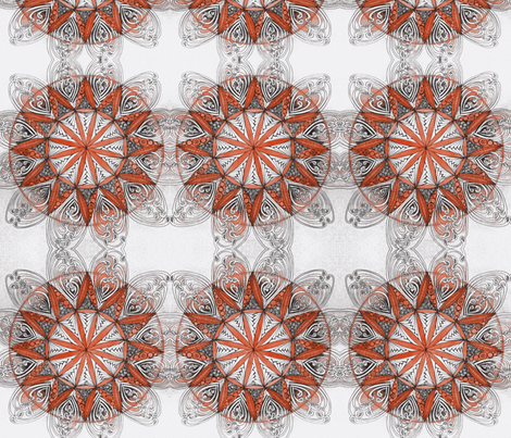 mandala in red fabric by fallingladies on Spoonflower - custom fabric