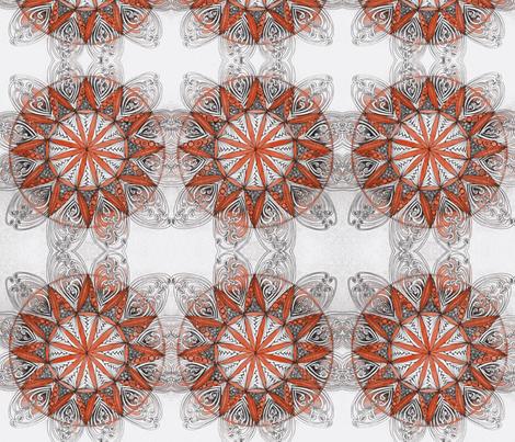 mandala in red fabric by fallingladies on Spoonflower - custom fabric