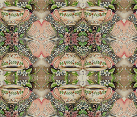 tea mandala fabric by fallingladies on Spoonflower - custom fabric