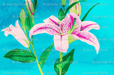 Asiatic Lily Bright Aqua - mirror
