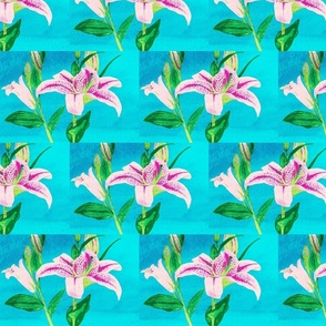 Asiatic Lily Bright Aqua - tile