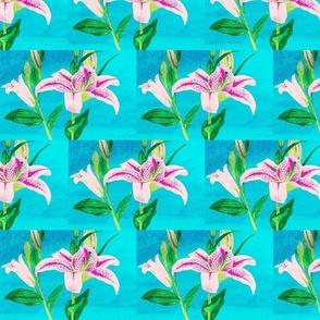 Asiatic Lily Bright Aqua - tile
