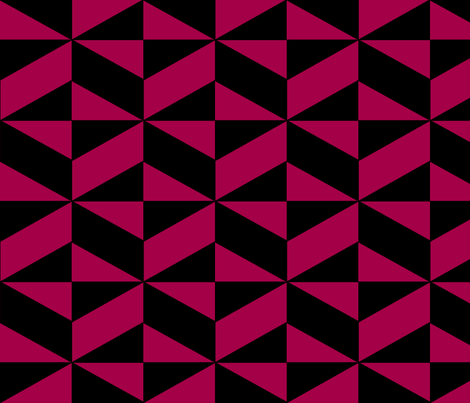 Red Block Illusion fabric by sterlingrun on Spoonflower - custom fabric