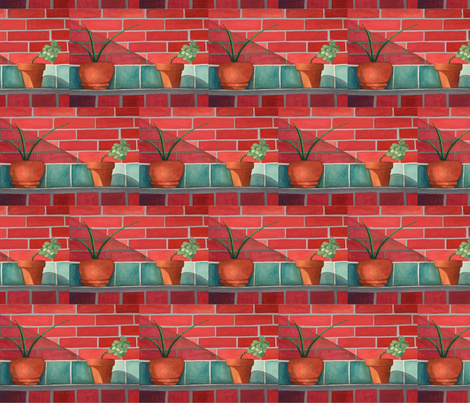 Garden Wall  fabric by painter13 on Spoonflower - custom fabric
