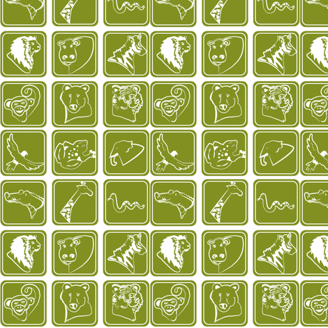 Zoo_Icons fabric by viasummerlynn on Spoonflower - custom fabric