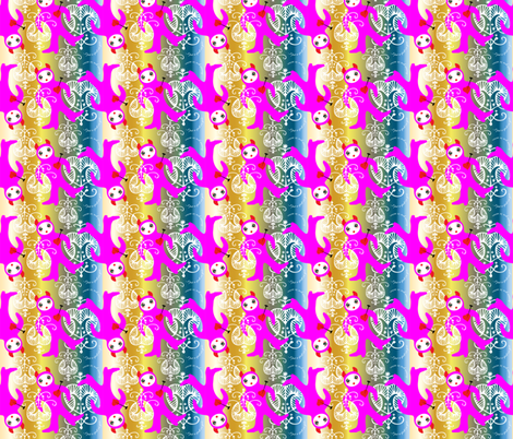 BooDolly Rainbow Spell fabric by happyhappymeowmeow on Spoonflower - custom fabric