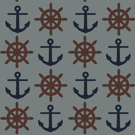 Mr. Captain ©2012 Jill Bull fabric by palmrowprints on Spoonflower - custom fabric