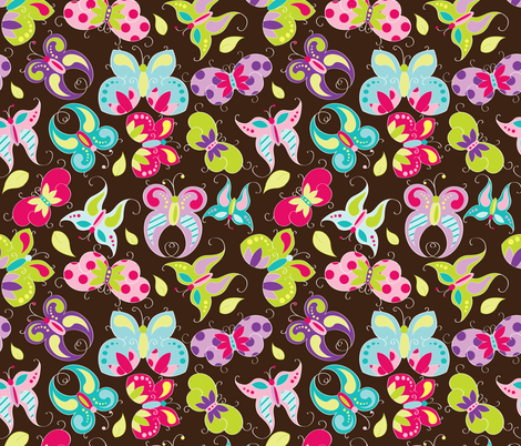 Butterfly Garden fabric by aimeemarie on Spoonflower - custom fabric