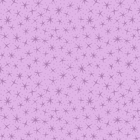 stellate whimsy in lavender fabric by weavingmajor on Spoonflower - custom fabric