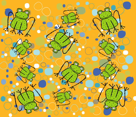 BUGS N' STUFF FROGGY fabric by deeniespoonflower on Spoonflower - custom fabric