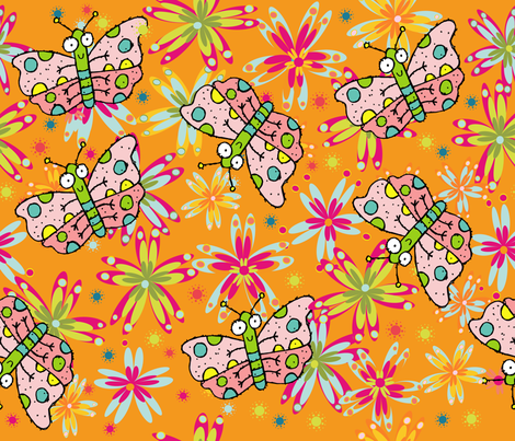 BUG EYES fabric by deeniespoonflower on Spoonflower - custom fabric