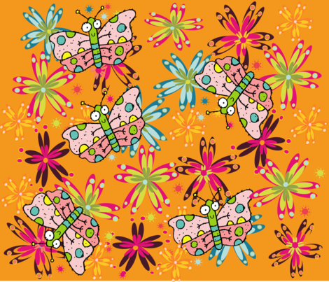BUGS N' STUFF 04 fabric by deeniespoonflower on Spoonflower - custom fabric