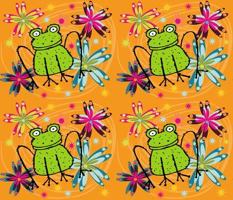 BIG FROGGY fabric by deeniespoonflower on Spoonflower - custom fabric