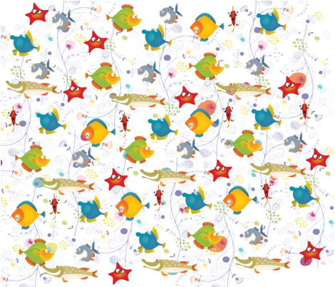 BUBBLES,SQUIRT, GILLIAN,TUNA, SPIKE, SPECKLES AND BUGEYES!  fabric by deeniespoonflower on Spoonflower - custom fabric