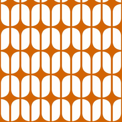 Modular Orange fabric by brainsarepretty on Spoonflower - custom fabric