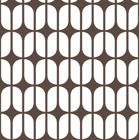 Modular Brown fabric by brainsarepretty on Spoonflower - custom fabric