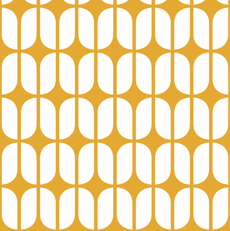 Modular Yellow fabric by brainsarepretty on Spoonflower - custom fabric
