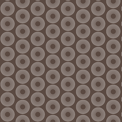 Modular Brown Circles fabric by brainsarepretty on Spoonflower - custom fabric