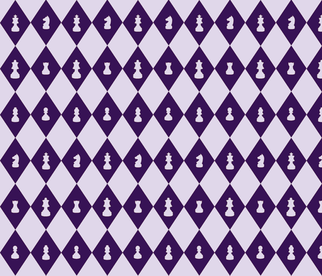 Chessboard Check in Grape fabric by charmcitycurios on Spoonflower - custom fabric