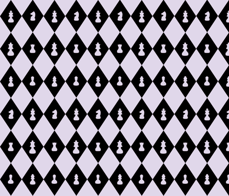 Chessboard Check in Lilac fabric by charmcitycurios on Spoonflower - custom fabric