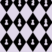 Chessboard Check in Lilac