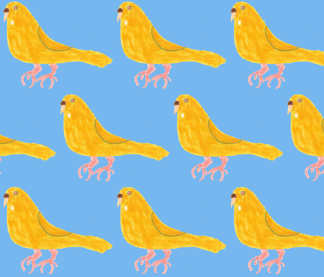 Lutino Budgie fabric by heartfullofbirds on Spoonflower - custom fabric