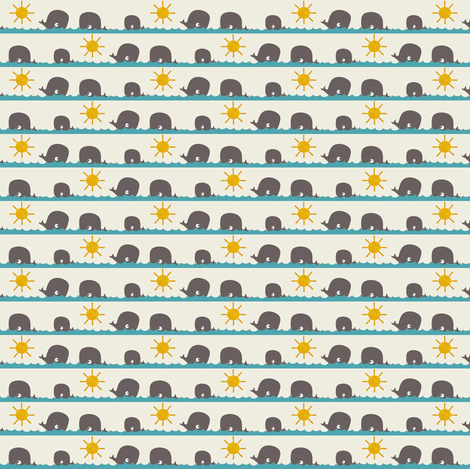 whales fabric by natitys on Spoonflower - custom fabric
