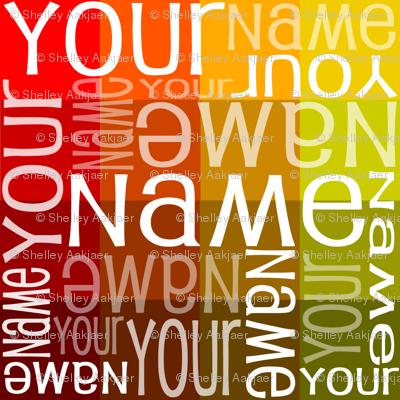Personalised Name Fabric - Autumn Sampler