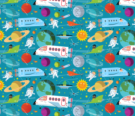 space fabric by edmillerdesign on Spoonflower - custom fabric
