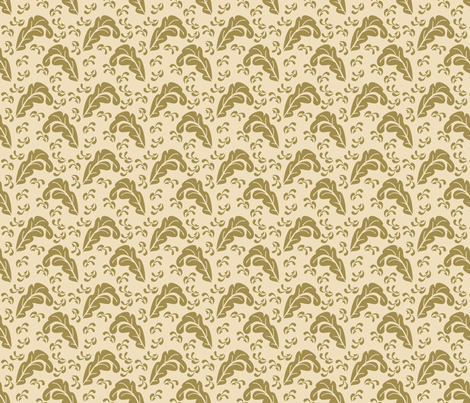 Leaves fabric by ©_lana_gordon_rast_ on Spoonflower - custom fabric