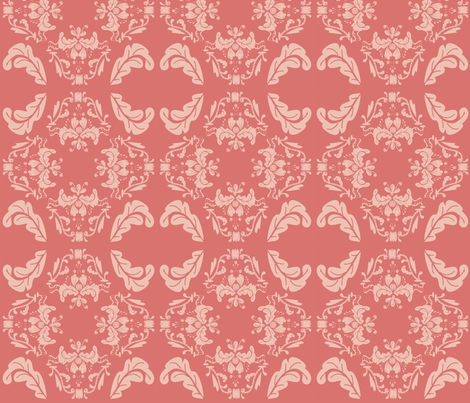 damask fabric by ©_lana_gordon_rast_ on Spoonflower - custom fabric