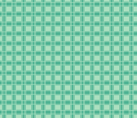 Turquoise_Plaid fabric by ©_lana_gordon_rast_ on Spoonflower - custom fabric