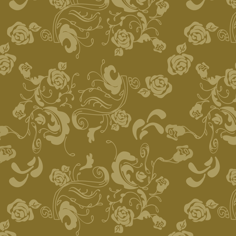 Stenciled_Rose fabric by ©_lana_gordon_rast_ on Spoonflower - custom fabric