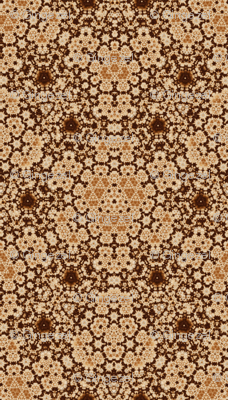Beige and Brown Digital Tapestry