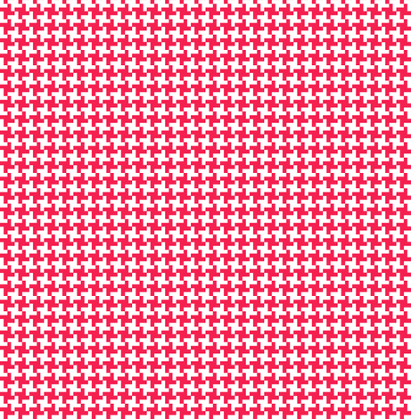 Cinnamon Houndstooth fabric by pennycandy on Spoonflower - custom fabric