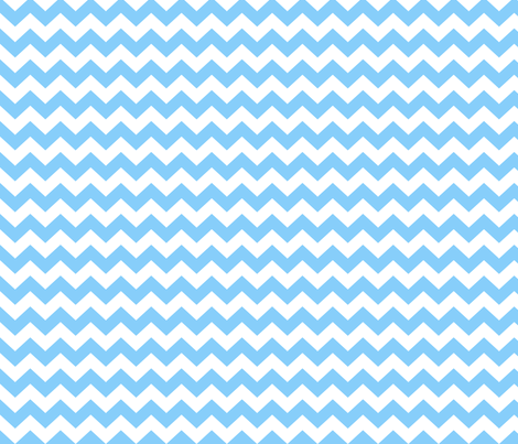 White and blue chevrons fabric by pininkie on Spoonflower - custom fabric