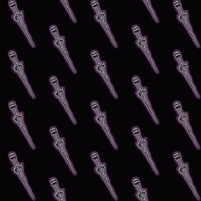 Purple Dagger Print