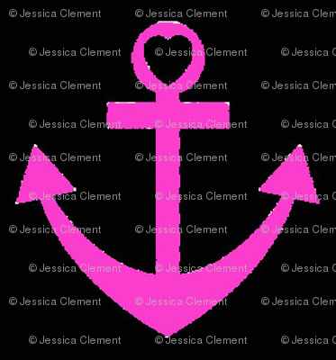 Pink Heart Anchor