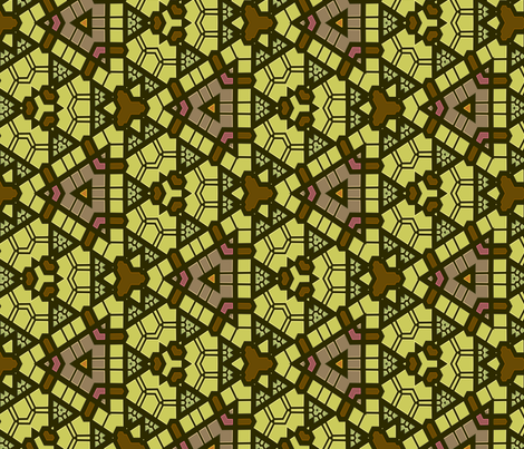Stained Glass Window: Ready Set Go fabric by wren_leyland on Spoonflower - custom fabric