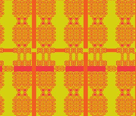 Bright plaid red orange green fabric by wren_leyland on Spoonflower - custom fabric