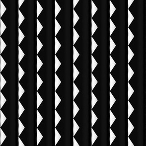 Black and White Half Diamond Stripe © Gingezel™ 2012