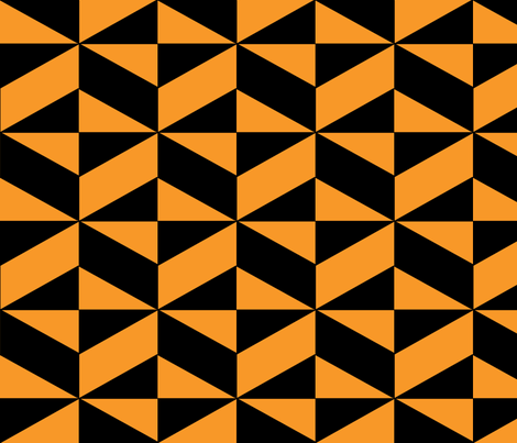 Orange Block Illusion fabric by sterlingrun on Spoonflower - custom fabric
