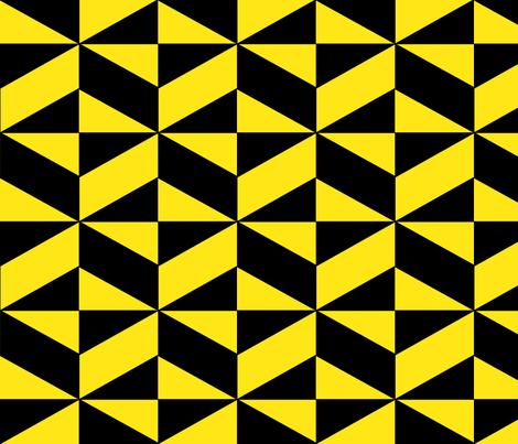 Yellow Block Illusion  fabric by sterlingrun on Spoonflower - custom fabric