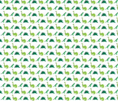 Dinosaurs fabric by bunnyjump on Spoonflower - custom fabric