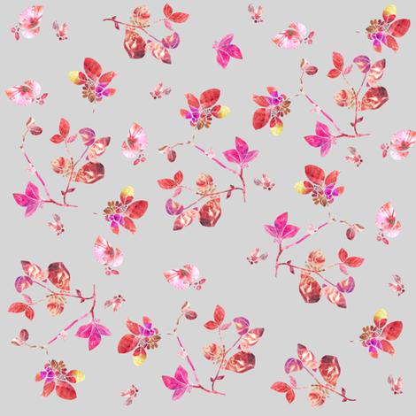 Blossom (grey) fabric by biancagreen on Spoonflower - custom fabric